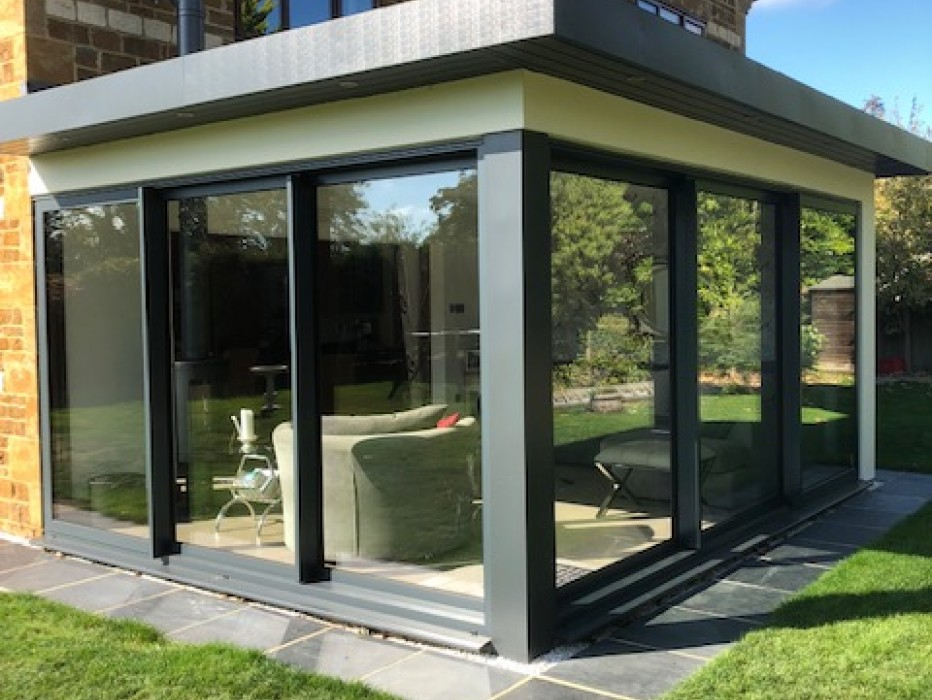 Modern living Space by Glazing Trade Supplies
