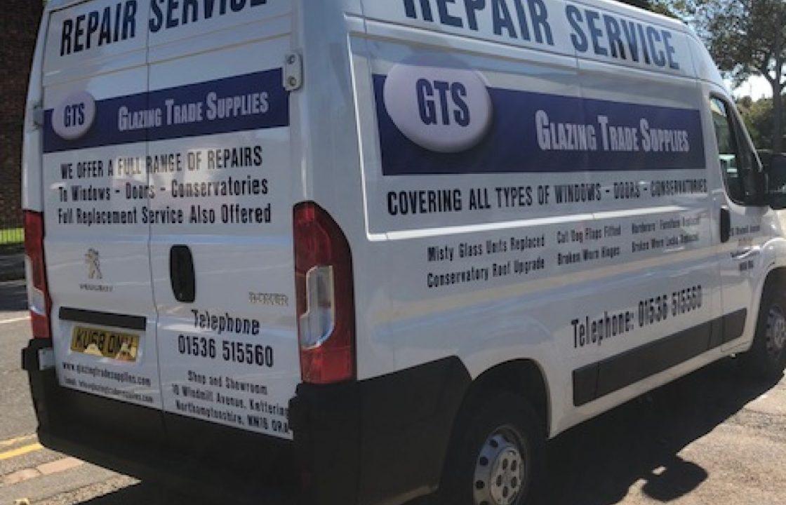 New Double glazing repair van on the road