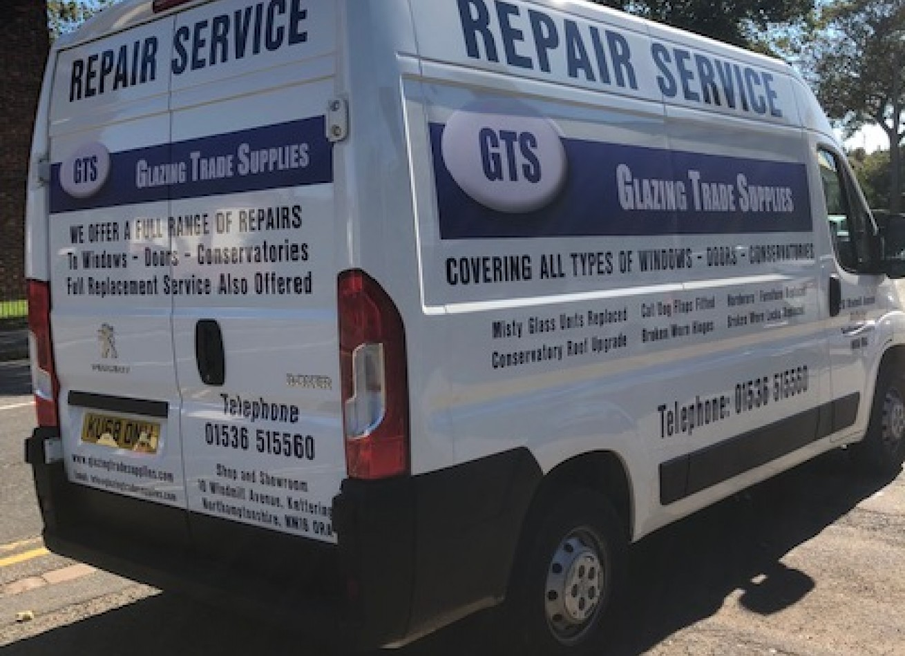 New Double glazing repair van on the road