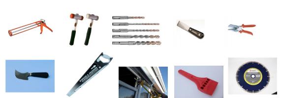 Glazing Trade Supplies Tools