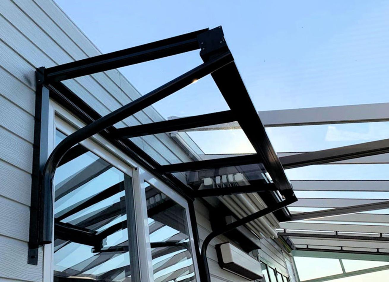 Glazing Trade Supplies Simplicity 6 Glass Entrance Canopy Veranders 1