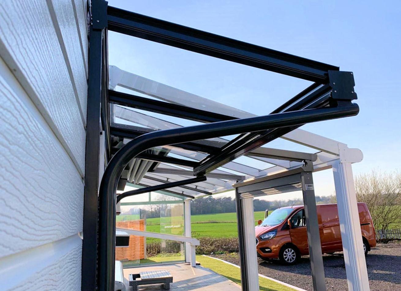 Glazing Trade Supplies Simplicity 6 Glass Entrance Canopy Veranders 2