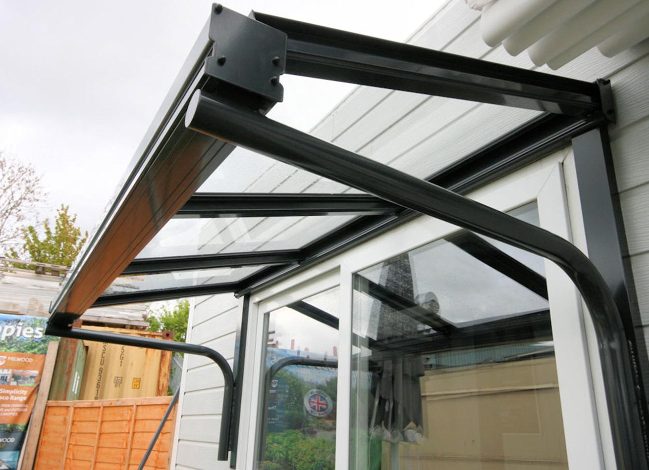Glazing Trade Supplies Simplicity 6 Glass Entrance Canopy Veranders